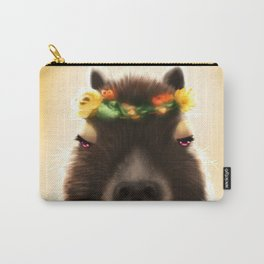 Capybara Shining Carry-All Pouch
