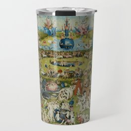 The Garden of Earthly Delights, Surreal, Hieronymus Bosch Travel Mug