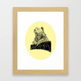 Where the Bees? Framed Art Print
