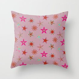 Fish tales: Starfish pattern 1e Throw Pillow
