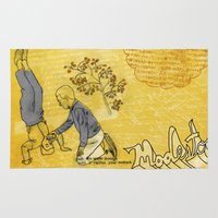 hiccup Area & Throw Rugs featuring Modesto! Hiccup by MODESTo! Prints