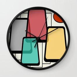 Mid-Century Modern Art Landscape 1.1 Wall Clock