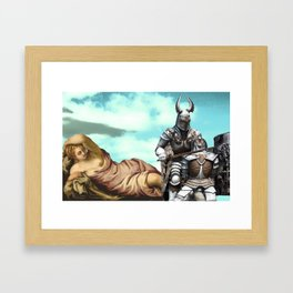 'no mountain is taller than my pride' Framed Art Print