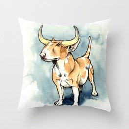 The Bull Terrier Throw Pillow