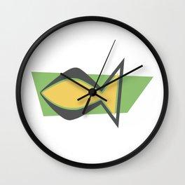 Christianity Fish - Mid Century Modern Wall Clock