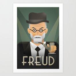 Freud Psychoanalyse Meister Art Print