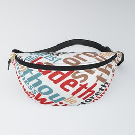 Christian Psalm 23 Colorful Word Art Fanny Pack