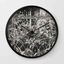 New Orleans Garden District Fence Wall Clock