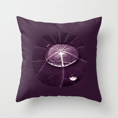 purple water drop XVI Throw Pillow