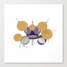 Purple Drum Kit Canvas Print
