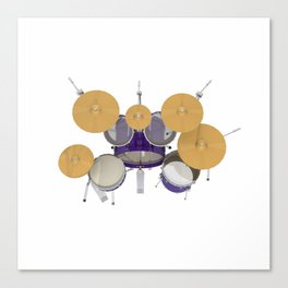 Purple Drum Kit Canvas Print