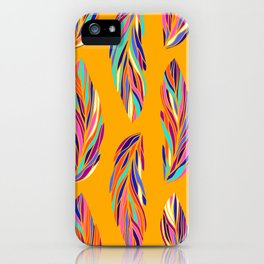 EXOTIC BIRD FEATHERS 02, hot yellow iPhone Case