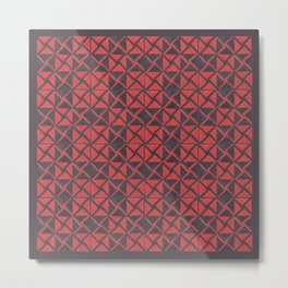 Patternsmith Triangles Red Metal Print