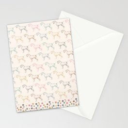 Schnauzer party Stationery Cards