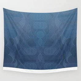 Round and About Blue Gray Wall Tapestry