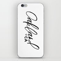 oakland iPhone & iPod Skins featuring Oakland Love by JK Design