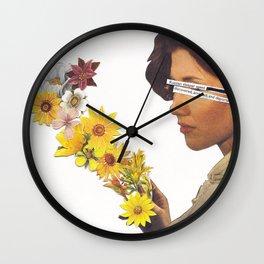 Floral Femme Fatale Wall Clock