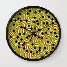 Green & Orange Swirls Wall Clock