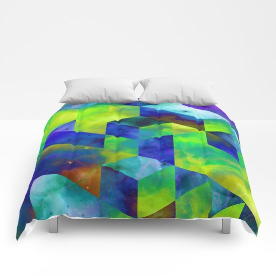 Neon Abstract Comforters
