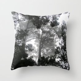Ghosts in the Trees Throw Pillow