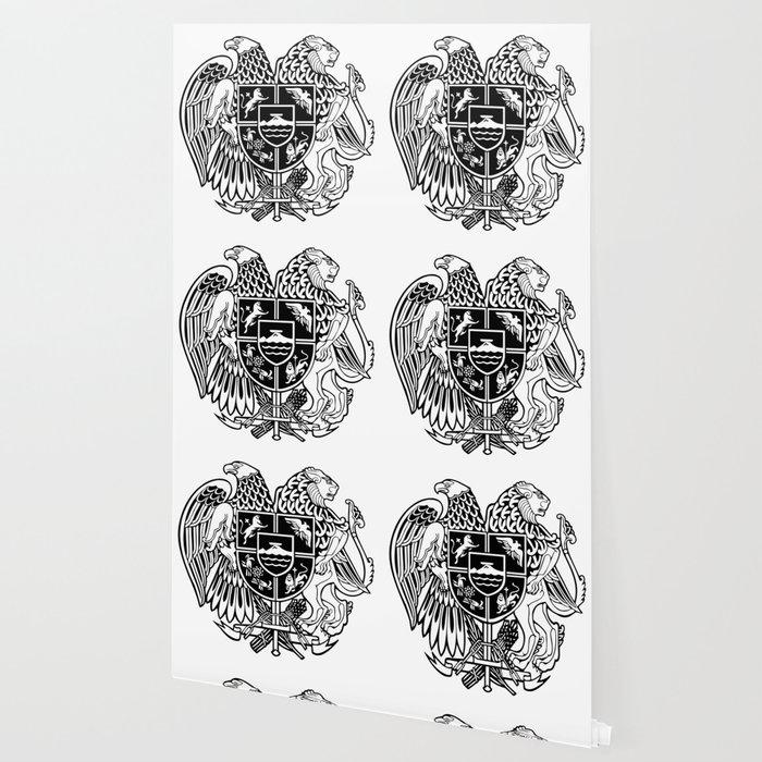 ARMENIAN COAT OF ARMS - Black Wallpaper
