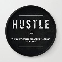 Hustle Verb Motivational Wall Art Entrepreneur Motivation Wall Clock