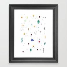 forest flare Framed Art Print
