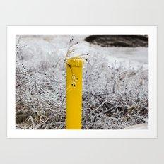 Yellow Pipe Art Print
