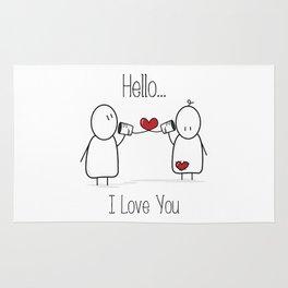 Hello I Love You Rug