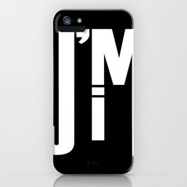 I'M JIM (white) iPhone Case