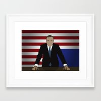 frank underwood Framed Art Prints featuring House Of Cards - Frank Underwood by Tom Storrer