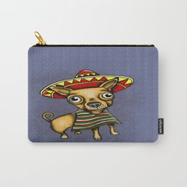 Mexican Chihuahua in Brown Carry-All Pouch