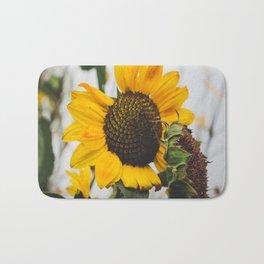 Sunflower Season Ends Bath Mat