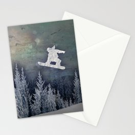 The Snowboarder Stationery Cards