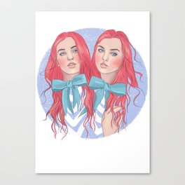 Follow the White Rabbit - Tweedles Canvas Print