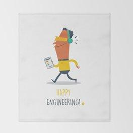 Happy Engineering Throw Blanket
