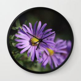 Lovely lavender aster Wall Clock