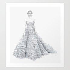 Amy Adams in Oscar de la Renta Art Print
