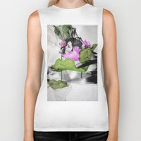 lotus flower Biker Tanks featuring Lotus by SEVENTRAPS