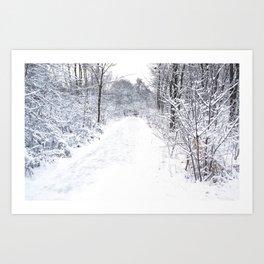 Snowfall at Brickworks on Christmas Day, 2020. LXXXIX Art Print