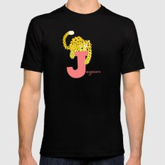 j for jaguar Black MEDIUM Mens Fitted Tee