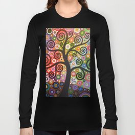 Abstract Art Landscape Original Painting ... Tree of Wishes Long Sleeve T-shirt