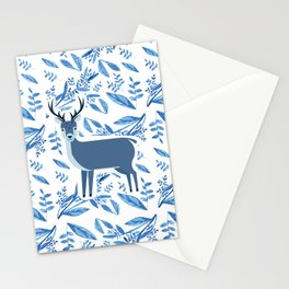 Deer in the flower pattern Stationery Cards