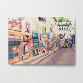 Caribbean Street Paintings Fine Art Print Metal Print