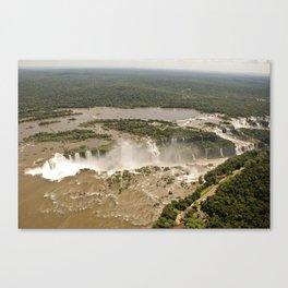 Iguassu Falls Aerial View Canvas Print
