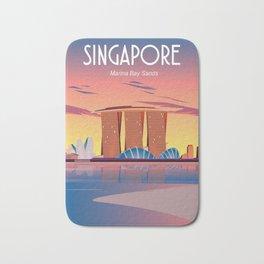 Singapore travel poster Bath Mat