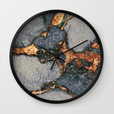 GREY & GOLD GEMSTONE  Wall Clock