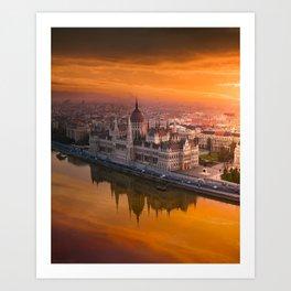 Sunrise at the Parliament Art Print
