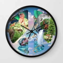 Gaia: Mother Earth Wall Clock