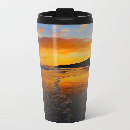 Seaside Dawn Metal Travel Mug